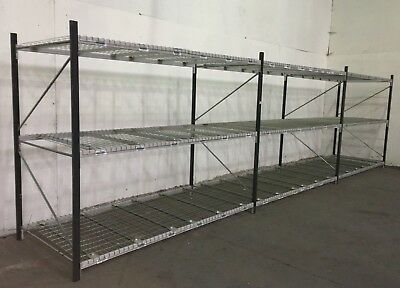 3 joined bays of Longspan Shelving Pallet Racking Industrial Warehouse Shelving