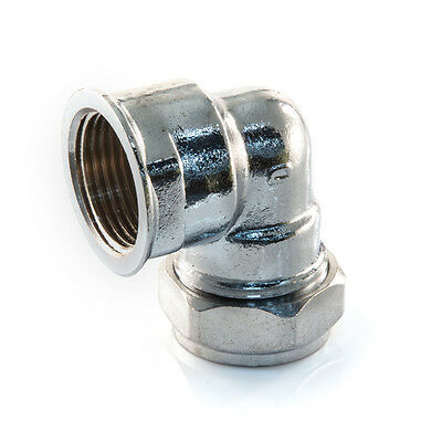 """NEW ELBOW CHROME PLATED 15 mm x 1/2"""" BSP Female, Plumbing,compression"""
