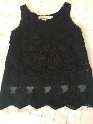 Black Lace Top From H&M Age 8-10 Years
