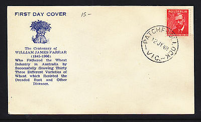 FDC:  1948  2 1/2d  FARRAR SCARCE CACHET, UNADDRESSED CANCELLED AT PATCHEWOLLOCK