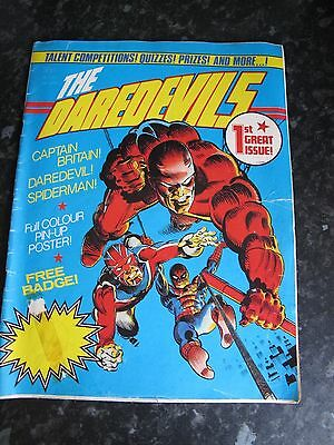The Daredevils #1 - Uk Marvel - 1St Issue 1983 - Captain Britain - Spiderman