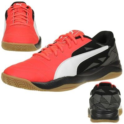 Puma Veloz Indoor III Hallenschuhe 103741 01 schwarz orange Indoor