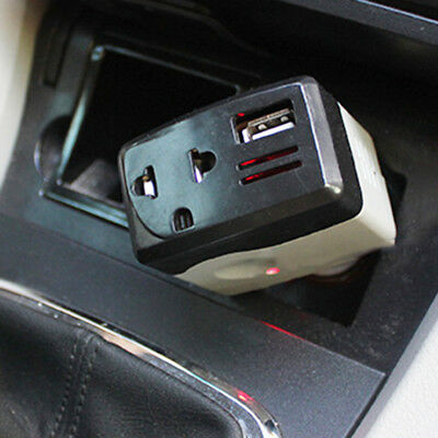 Durable DC 12/24V AC 220V Moble Car USB Outlet Power Converter Inverter Adapter
