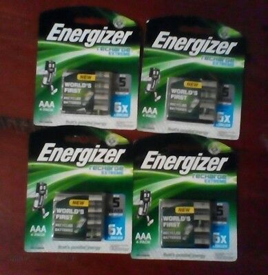 4 x AAA 4 pack rechargeable energizer batteries