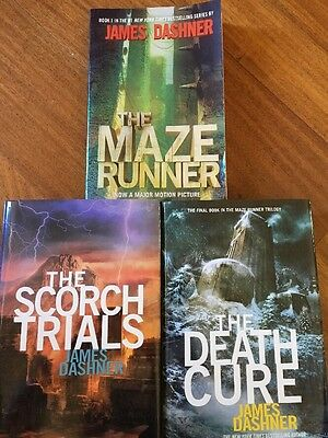 3 Lot of James Dashner -   The Maze Runner, The Scorch Trials & The Death Cure