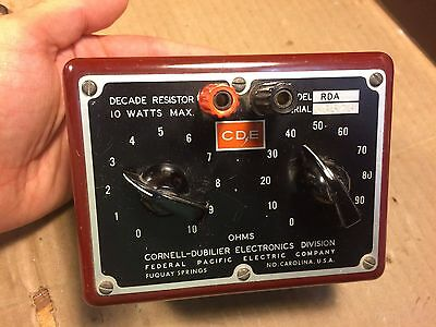 Vintage Cornell-Dubilier RDA Decade Resistor Box 10 Watts Max extremely nice