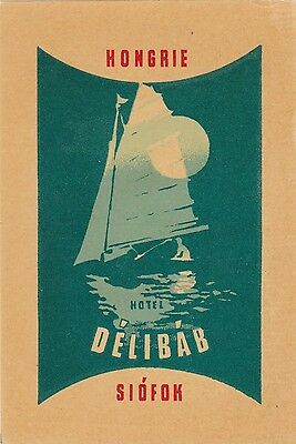 Hungary Siofok Hotel Delibab Vintage Luggage Label sk3678