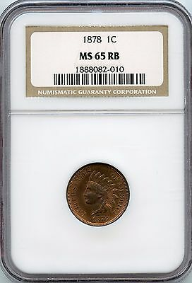 1878 1C RB Indian Cent NGC MS 65 Great Eye Appeal Very Lustrous
