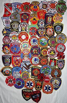 61 pieces  mixed USA Fire Departments Firefighter patches NEW!!