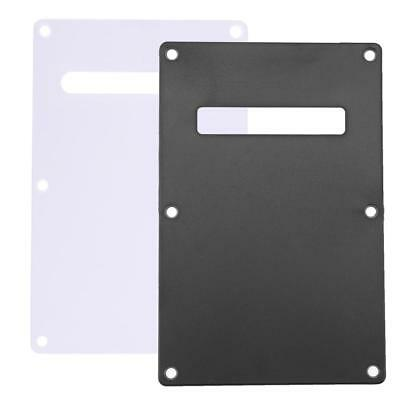 PVC Pickguard Tremolo Cavity Back Plate Cover Backplate for Electric Guitar Bass