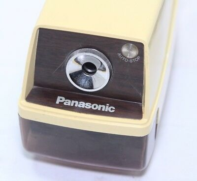 Vintage Panasonic Point-O-Matic Model KP-33 Electric Pencil Sharpener Faux Wood