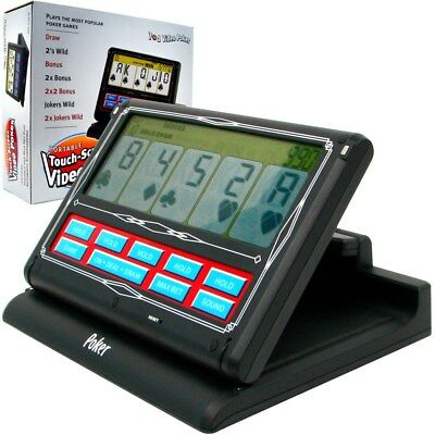 Battery Operated Portable Black and White Video Poker Touch Screen