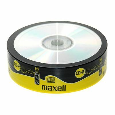 Maxell CDR80 700MB Blank Discs (pack of 25)