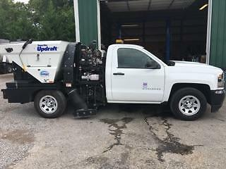 2016 Schwarze SuperVac Updraft Sweeper on Chevy chassis