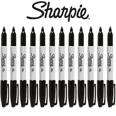 Sharpie FINE Point Black Permanent Marker Pens Full Size Pack of 1,3,6,12 or 24