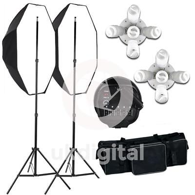 Nest Continuous Lighting Studio Kit (2 head) with Octagonal Softboxes