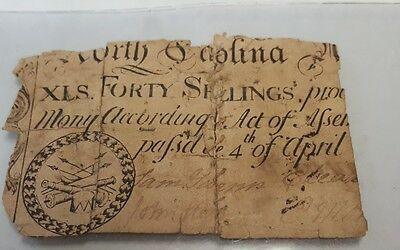 North Carolina  40 Shillings.   1748