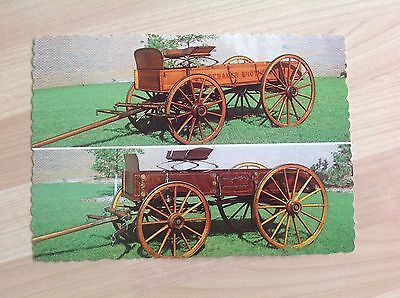 Studebaker Postcard Showing Two Special Wagons For Exposition Display