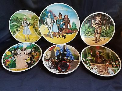 Knowles The Wizard of Oz Plates Complete Set 6 Plates