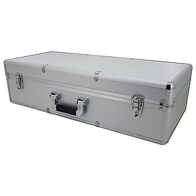 SRA Cases Aluminum Hard Case  with Foam Insert Silver 26.5 x 11.7 x 7.5 Inches