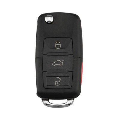 Replacement 4 Button Key Shell Case Control Fob For VW Passat Jetta Flip Folding