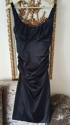 Ladies Suzi Chin Black Evening Dress Size 10