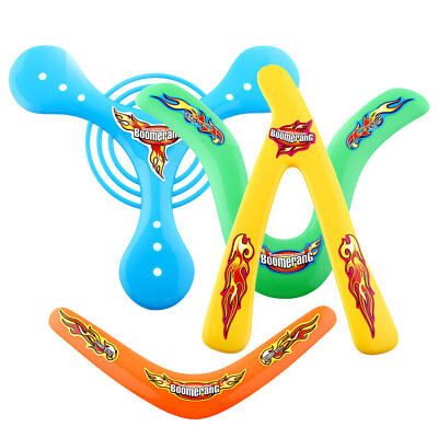 4X 4Shapes Outdoor Returning Sporting Throwback ChildrenToys Colorful Boomerang