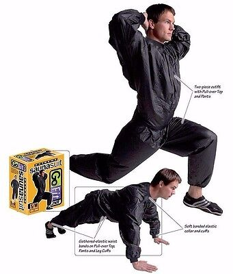 GoFit Extreme Heavy-Duty Sauna Suit - Small, Medium & Large Sizes.