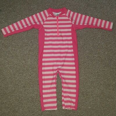 Pink M&S All In One Sunsuit **** Aged 18-24 Months
