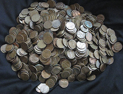 GUARANTEED UNSEARCHED 10 LB - $15.00 FV Lot Of 95% Copper Lincoln Cent Pennies