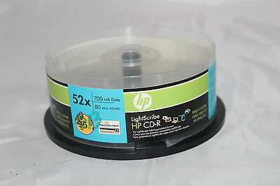 LightScribe HP CD-R 13 Pack 52x 80 Minutes New