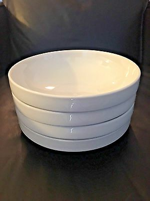 Crate And Barrel Set Of 4 Stackable Staxx Pattern? Soup Cereal Bowl White