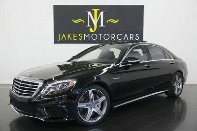 2016 Mercedes-Benz S-Class S63 AMG Sedan 2016 MERCEDES S63 AMG, ONLY 7800 MILES! BLACK ON BLACK EXCLUSIVE NAPPA LEATHER