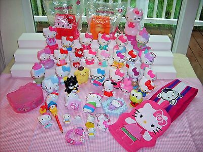 45 pcs of  hello kitty`s  and stuff , pre-owned, in good condition