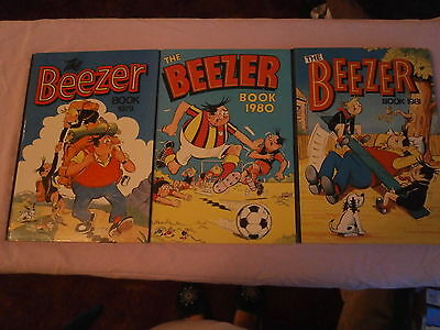 3 Beezer Comic Book Annual's - 1979 - 1980 and 1981