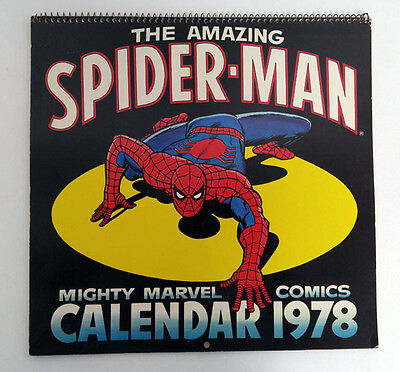 The Amazing Spider-Man Mighty Marvel Comics Calendar 1978