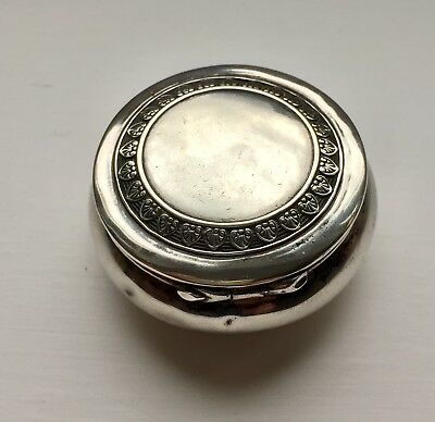 Early 1900's Antique German Silver 800 Pill Pot / Box - Hallmarked