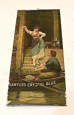 Sawyer's Crystal Blue Matches Early 1900S Premium Art Panel