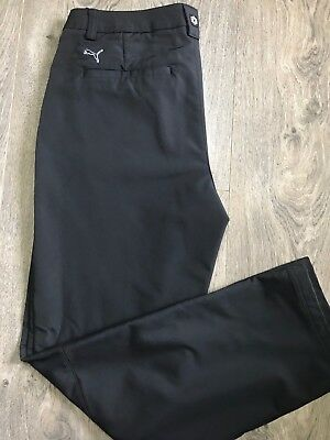 Mens Puma Heavy Weight Golf Pant Water Resistant size 34X32 Light Black