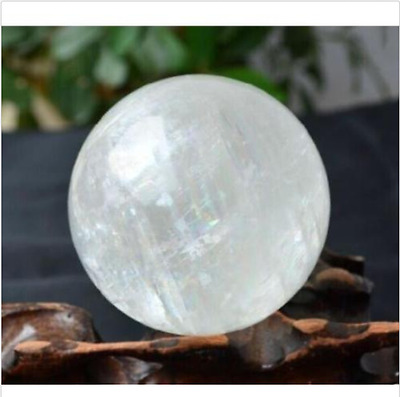 Rare 40mm+Stand NATURAL/CLEAR QUARTZ CRYSTAL SPHERE BALL HEALING GEMSTONE