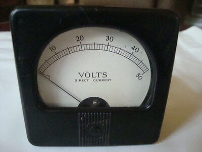 Vintage  Direct Current 0-50 Panel Mount Made in USA