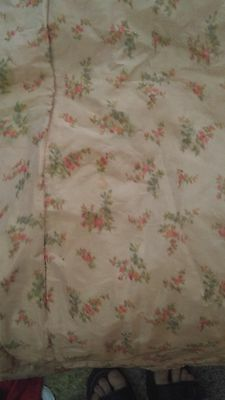 Antique watered SILK MANY YARDS moire taffeta 19th CENTURY DOLLS VICTORIAN