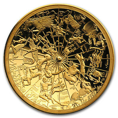 2017 Australia 1 oz $100 Gold Northern Sky Domed Prf (Abrasions) - SKU#153799