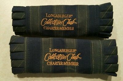 LOT of 2 Longaberger Handle Grippers - CC Collector's Club Charter Members.  Dis