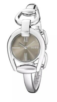 72395945fd2 NEW Gucci Horsebit Collection Brown Dial Stainless Steel Ladies Watch  YA139501