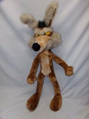 "Vintage 1993 Wile E Coyote Plush 32"" Tall Looney Tunes Wiley"