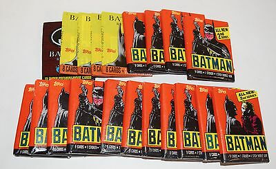 Lot Of 20 1989-1991 Topps Stadium Club Batman Card Packs  Wb151
