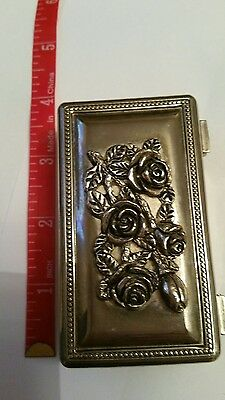 antique vintage silver plated trinket jewellry box