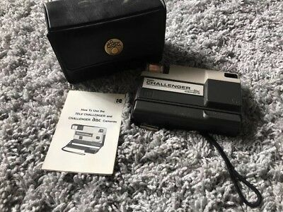 KODAK Tele Challenger DISC CAMERA & Bag FLASH Vintage PHOTOGRAPHY Photo PICTURE
