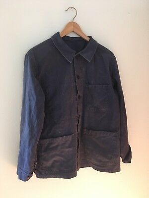 Vintage Indigo French Chore Jacket Like Kapital RRL Visvim
